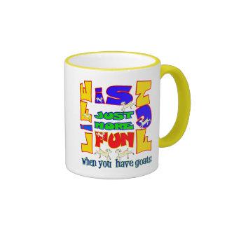 Funny Animal Saying  Goat Humor Ringer Mug