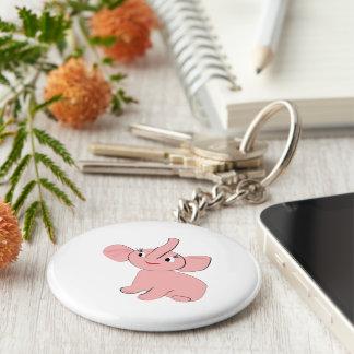 Funny animals basic round button keychain