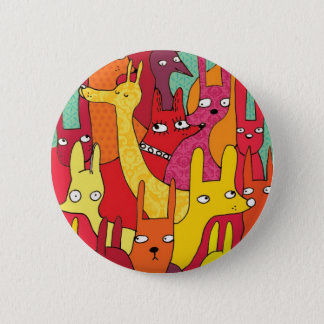 Funny animals button