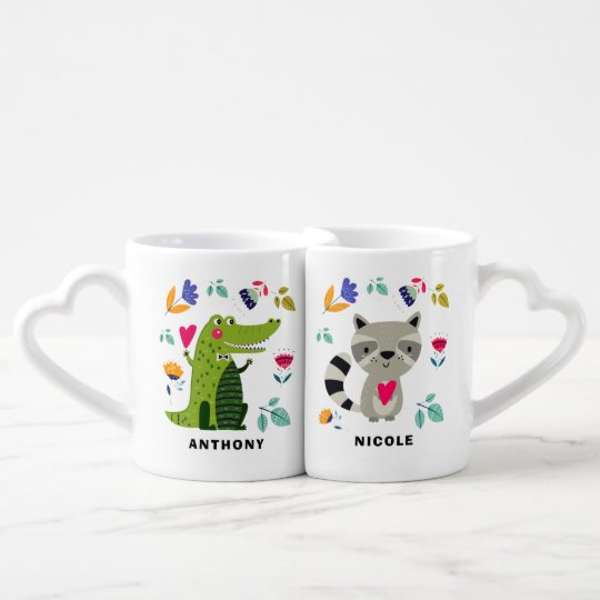 Funny Animals In Love Valentine S Day Gift Mugs Zazzle Com