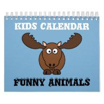 Funny Animals Kids Calendar