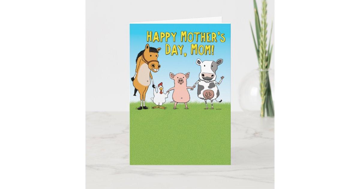 Funny Animals Raised In A Barn Mother S Day Card Zazzle Com,Standard House Brick Dimensions Australia