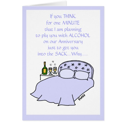Funny Anniversary Card For Husband or Wife