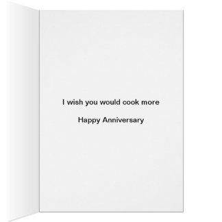 Funny Anniversary card for spouse