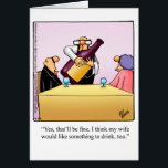 """Funny Anniversary Card For Them&quot; Spectickles&quot;<br><div class=""""desc"""">Wonderfully funny and slightly sarcastic cartoon characters in hilarious situations that's sure to bring a smile to anyone's face. Great fun for the wonderfully funny, slightly sarcastic characters you know! Enjoy spreading the laughter with this hilarious anniversary humor greeting card by cartoonist Bill Abbott; send some laughs along with your...</div>"""