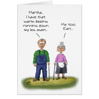 Funny Anniversary Cards: Sharing the bathroom Card