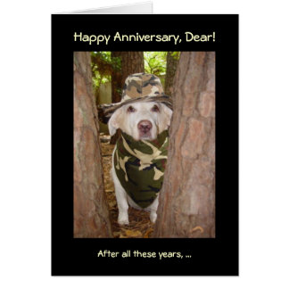 Funny Anniversary from Wife of Hunter Card