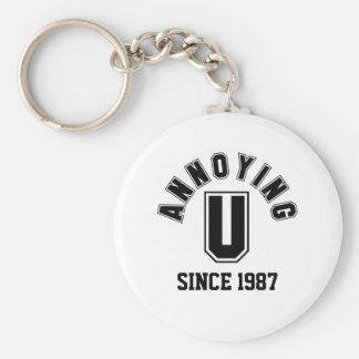 Funny Annoying You Keychain, Black Basic Round Button Keychain