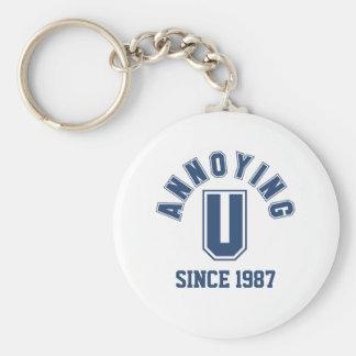 Funny Annoying You Keychain, Blue Basic Round Button Keychain