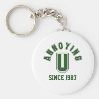 Funny Annoying You Keychain, Green Basic Round Button Keychain