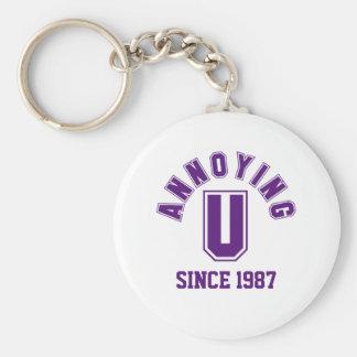 Funny Annoying You Keychain, Purple Basic Round Button Keychain