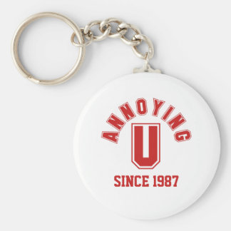 Funny Annoying You Keychain, Red Basic Round Button Keychain