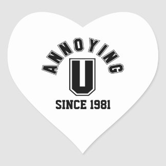 Funny Annoying You Stickers, Black