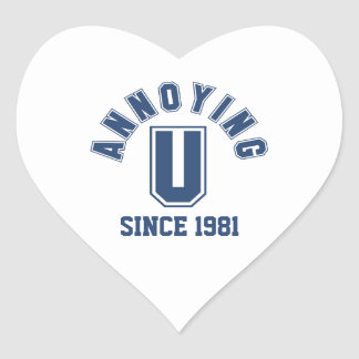 Funny Annoying You Stickers, Blue
