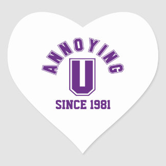 Funny Annoying You Stickers, Purple