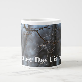 Funny Another Day Fishing Tangled Line On A Tree Giant Coffee Mug