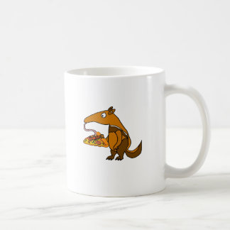 Funny Anteater eating Pizza Cartoon Coffee Mug