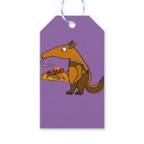 Funny Anteater eating Pizza Cartoon Gift Tags