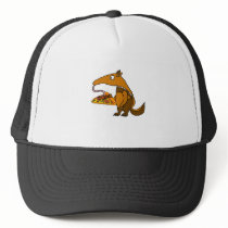 Funny Anteater eating Pizza Cartoon Trucker Hat