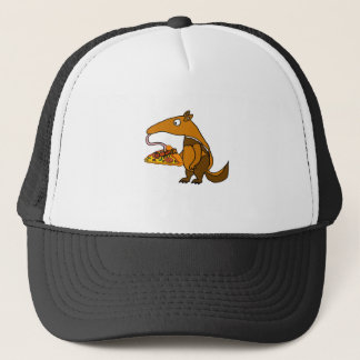 Funny Anteater eating Pizza Cartoon Trucker Hat