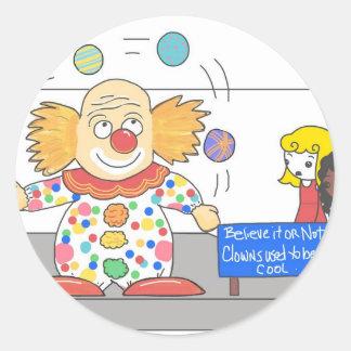 Funny Anti Clown whimsical Clown Joke Humor Classic Round Sticker