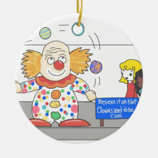 Funny Anti Clown whimsical Clown Joke Humor Christmas Ornaments