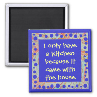 funny anti-cook art 2 inch square magnet