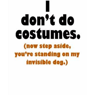 Funny Anti-Costume Halloween T-shirt shirt