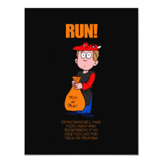 Funny Anti-Democrat Halloween Card