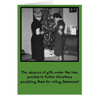 Funny anti Democrats Christmas Greeting Cards