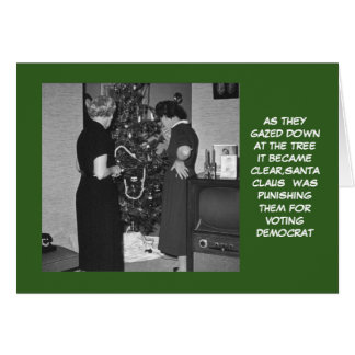 Funny anti Democrats Christmas Cards
