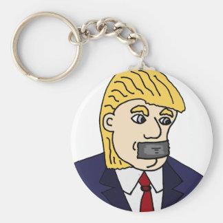 Funny Anti Donald Trump Political Cartoon Keychain