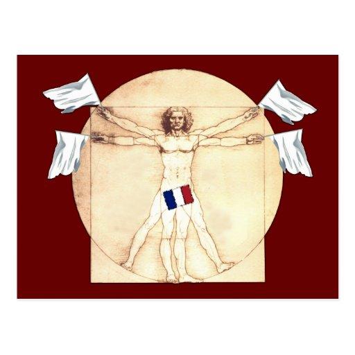 Funny anti French Postcard