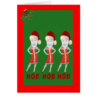 Funny anti Hillary Christmas Greeting Cards