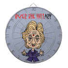 Funny Anti Hillary Clinton Political Art Dartboard With Darts