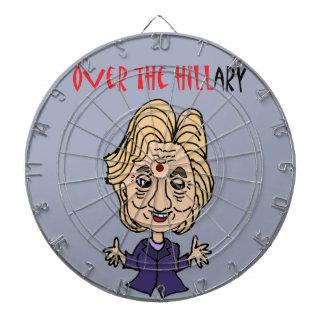 Funny Anti Hillary Clinton Political Art Dartboard With Darts
