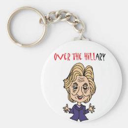 Funny Anti Hillary Clinton Political Art Keychain