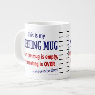 Funny Anti-Meeting Jumbo Coffee Mug 20 Oz Large Ceramic Coffee Mug