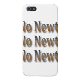 Funny Anti Newt Gingrich Chant Brown Cover For iPhone SE/5/5s