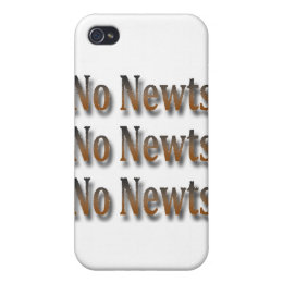 Funny Anti Newt Gingrich Chant Brown iPhone 4/4S Case