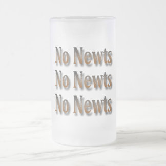 Funny Anti Newt Gingrich Chant Frosted Glass Beer Mug