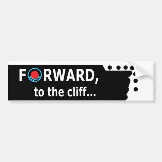 Funny Anti-Obama Bumper Sticker - Fiscal Cliff
