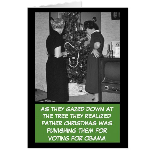 Funny anti Obama Christmas Cards