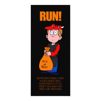 Funny Anti-Obama Halloween Bookmark Card