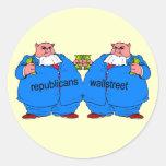 Funny anti Republican Round Stickers