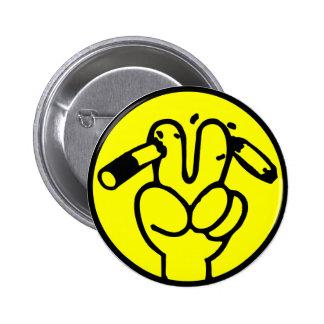 Funny Anti Smoking ⚠ Thai Sign ⚠ Pinback Buttons