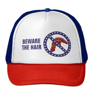 "Funny Anti-Trump ""Beware The Hair"" Trucker Hat"
