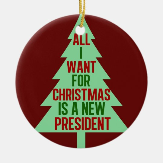Christmas Trump Funny.Funny Anti Trump Christmas Political Humor Ceramic Ornament