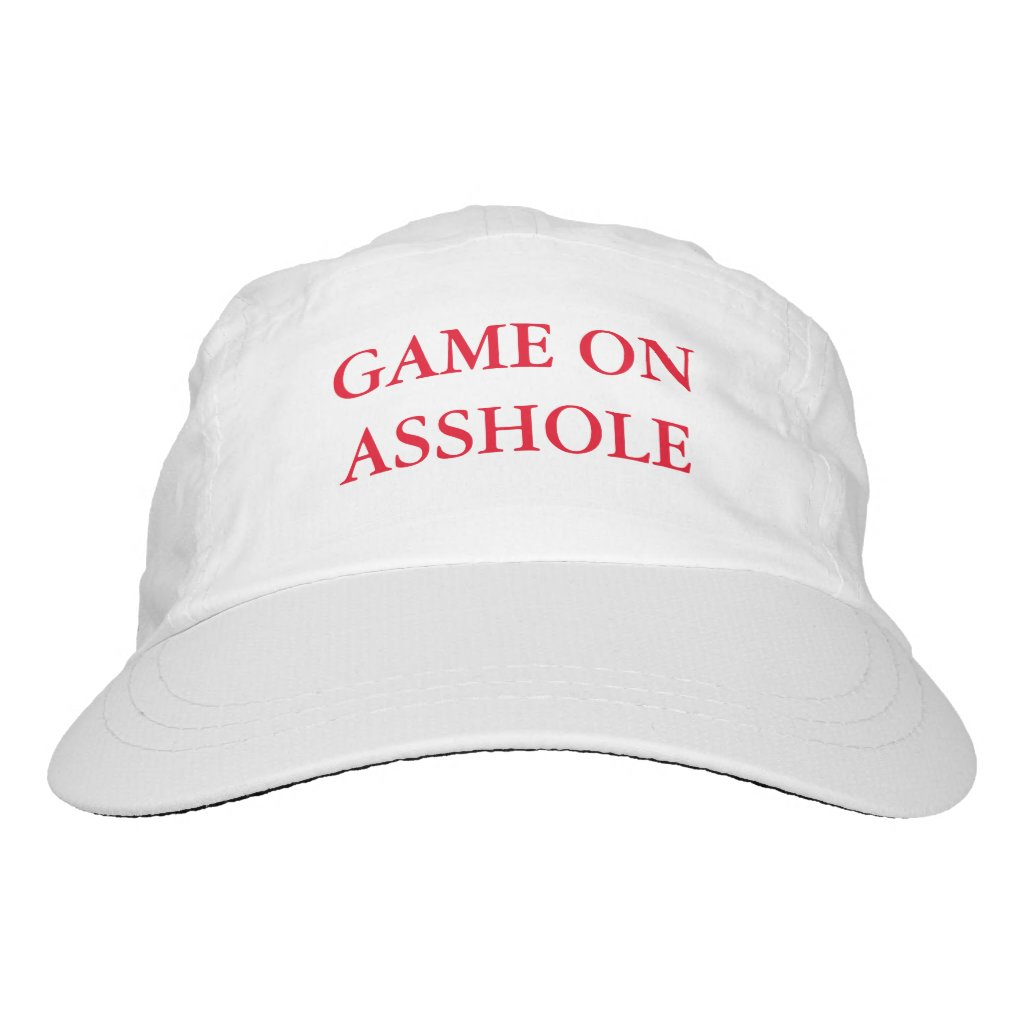 Funny Anti Trump Game On Asshole Hat Baseball Cap
