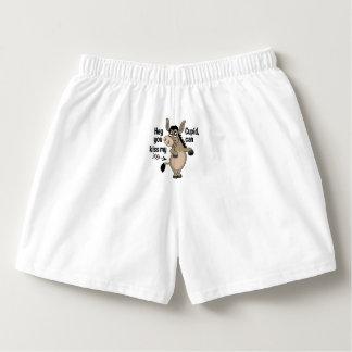 Funny Anti-Valentine Donkey custom name underwear Boxers